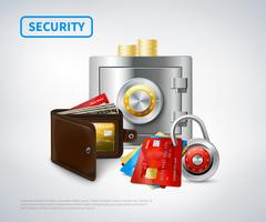 Money Realistic Security Set Stock Illustration