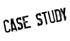 Case Study rubber stamp Stock Illustration