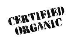 Certified organic rubber stamp Stock Illustration