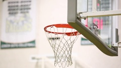 Basketball bounce off rim Stock Footage