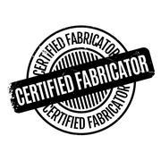 Certified Fabricator rubber stamp Stock Illustration