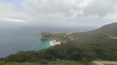 Sliding view of turquoise coastline 4k Stock Footage