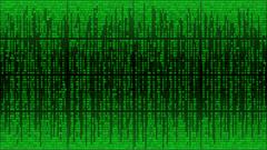 Abstract cyberspace with digital lines, binary code, matrix background Stock Illustration