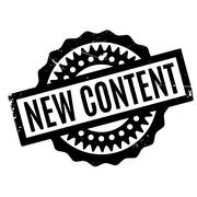 New Content rubber stamp Stock Illustration