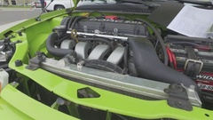Muscle car under the hood 4k Stock Footage