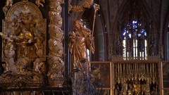 Inside a church of the Baroque period Stock Footage