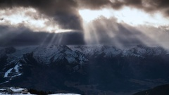 Amazing timelapse of sunset at the alps Stock Footage