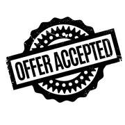 Offer Accepted rubber stamp Stock Illustration