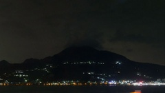 Skyline at the Tamsui river, time lapse Stock Footage
