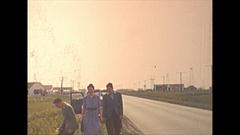 Vintage 16mm film, 1940 oil derricks on the prairies Stock Footage