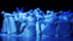 Dance performance blurred Stock Footage