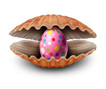 Easter Egg Surprise Discovery Stock Illustration