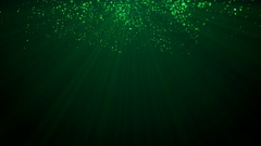 4k Green Particle seamless background Stock Footage