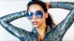 Female sexy music disco club lifestyle catsuit Stock Footage