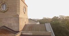 Upward Aerial of St Philips Church in Charleston, SC Stock Footage
