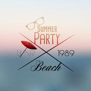 Summer Beach Party Flyer Template - Vector Illustration Piirros