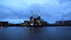 Timelapse of Battersea Power Station, London Stock Footage