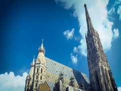 St  Stephan cathedral in Vienna, Austria Stock Footage