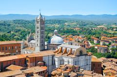 Metropolitan Cathedral Saint Mary of the Assumption in Siena, Tuscany region Stock Photos