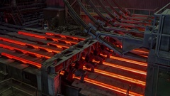 Melting of the metal at the factory. The liquid metal is poured into molds Stock Footage