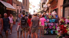 People walk on a pedestrian street Corso Roma. Stock Footage