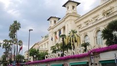 The municipal casino of San Remo is a building in art Nouveau style built b.. Stock Footage
