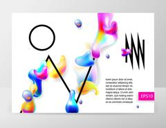 Abstract bright colorful plasma drops shapes pattern Stock Illustration