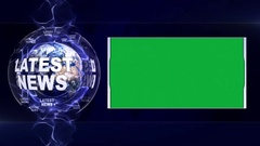 LATEST NEWS Text Animation Stock Footage