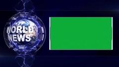 WORLD NEWS Text Animation Stock Footage