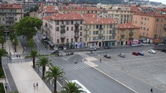 The intersection of the Boulevard Risso and Traverse Jean Monnet Stock Footage