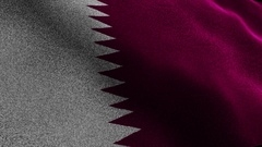 QATAR Flag, Textile Carpet Background, Still Camera, Loop, 4k Stock Footage