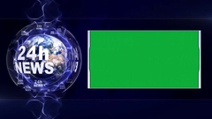 24H NEWS Text Animation  Stock Footage