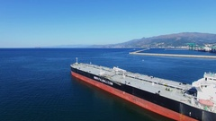 Tanker of Palmali company sail not far from Voltri Terminal Europa Stock Footage