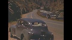 Vintage 16mm film, 1940 Colorado Rockies scenery tourist trip #2 Stock Footage