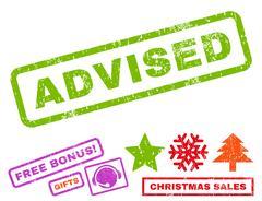 Advised Text Rubber Seal Stamp Watermark with Bonus Stock Illustration