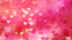 Rising Valentine Hearts 4K Loop Stock Footage