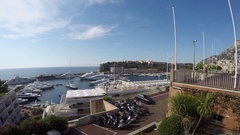 Monte Carlo, Monaco, City panorama with Port Hercule Stock Footage