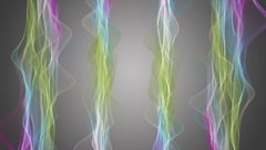 Fantastic animation with particle wave object in motion, 4096x2304 loop 4K Stock Footage