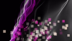 Romantic animation with wave object and squares in motion, 4096x2304 loop 4K Stock Footage