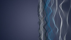 Fantastic animation with wave object in slow motion, 4096x2304 loop 4K Stock Footage