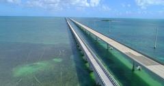 Overseas Highway Florida Keys 4k 60p Stock Footage