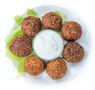 Falafel isolated on white Stock Photos