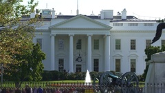 White House north lawn - Washington DC Stock Footage