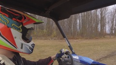 Utv side by side driver offroad 4k Arkistovideo