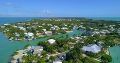 Vacation homes in the Florida Keys Stock Footage