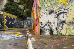 Beco do Batman in Sao Paulo, Brazil Kuvituskuvat