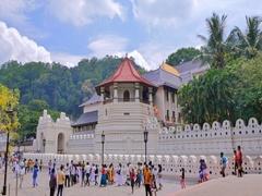 Buddhist Temple of Sacred Tooth Relic or Sri Dalada Maligawa Stock Footage