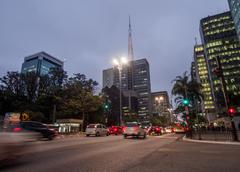 Paulista Avenue in Sao Paulo, Brazil Stock Photos