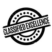 Classified Excellence rubber stamp Stock Illustration