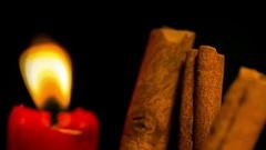 Cinnamon sticks stick spice spices 2 Stock Footage